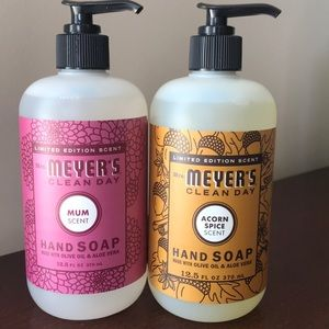 2 Limited Edition Mrs. Meyers Hand Soaps